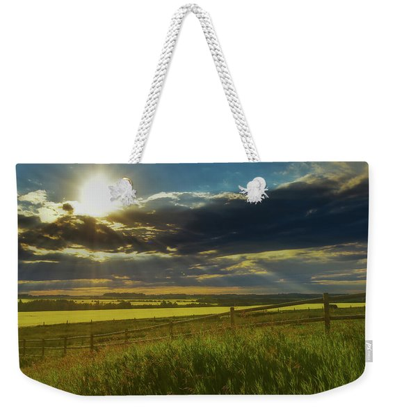 Southern Alberta Crop Land Weekender Tote Bag