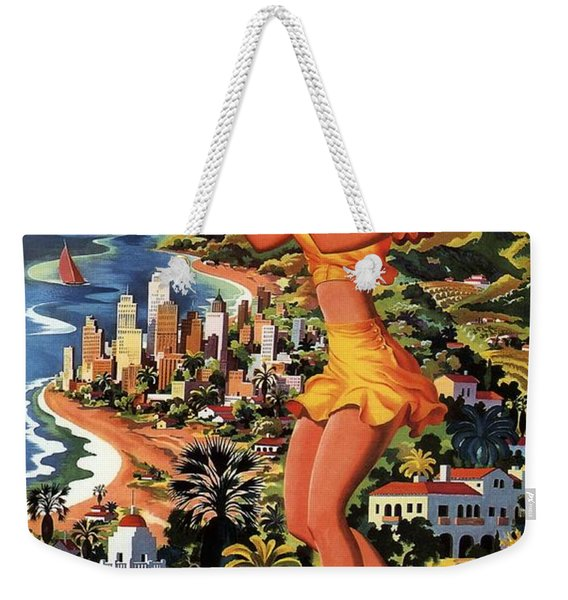 Southern California - United Air Lines - Retro Travel Poster - Vintage Poster Weekender Tote Bag