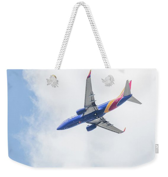 Southwest Airlines With A Heart Weekender Tote Bag
