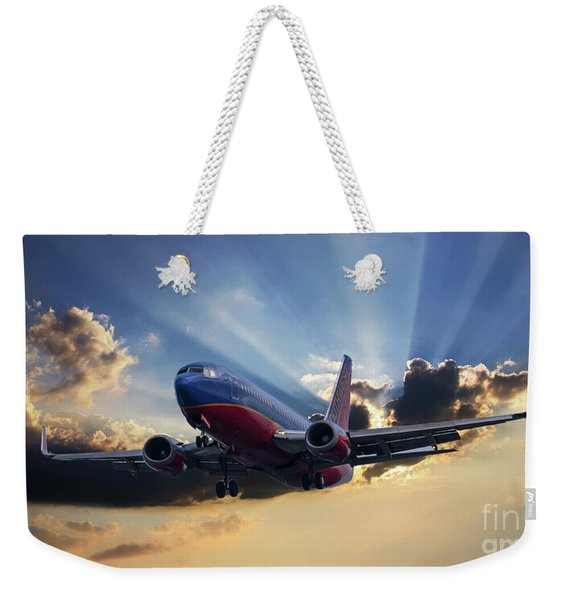 Southwest Dramatic Rays Of Light Weekender Tote Bag