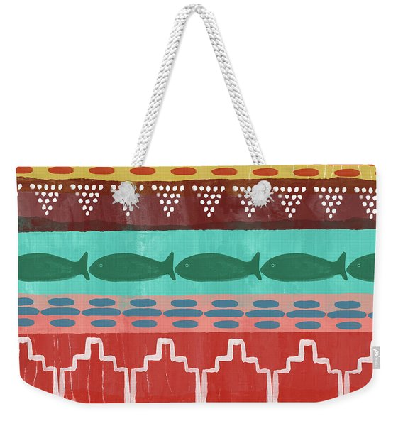 Southwest With Fish- Art By Linda Woods Weekender Tote Bag