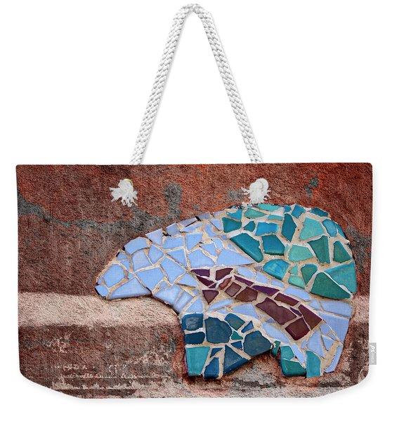 Southwestern Bear Mosaic Weekender Tote Bag