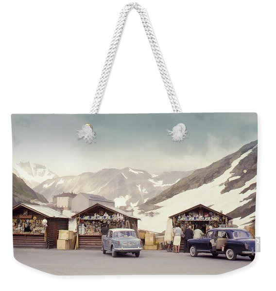 Souvenir Shops, Mountain Pass, France Weekender Tote Bag