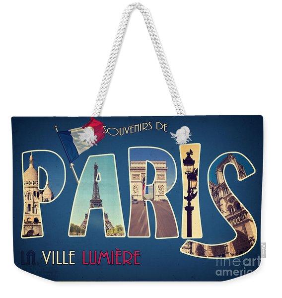 Souvernirs De Paris Weekender Tote Bag