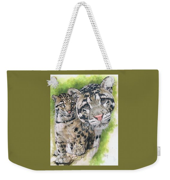 Weekender Tote Bag featuring the mixed media Sovereignty by Barbara Keith