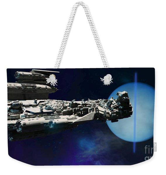 Spaceship To Neptune Weekender Tote Bag