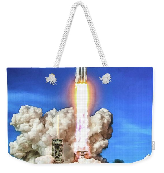 Spacex Falcon Heavy Rocket Launch Weekender Tote Bag
