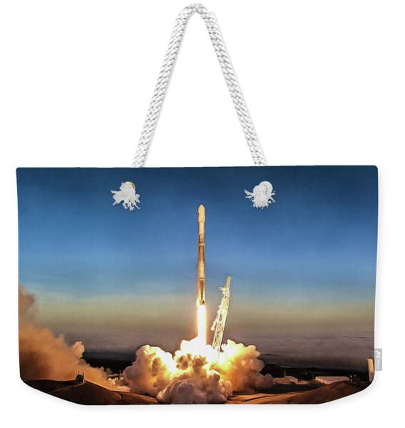 Spacex Iridium-5 Mission Falcon 9 Rocket Launch Weekender Tote Bag