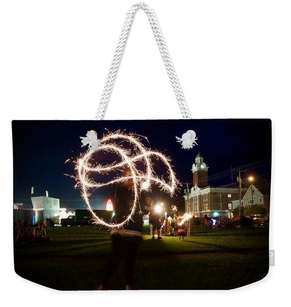 Sparkler Art Weekender Tote Bag