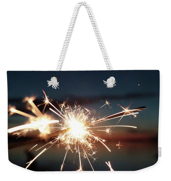 Sparklers After Sunset Weekender Tote Bag