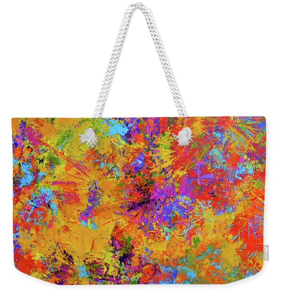 Sparks Of Consciousness Modern Abstract Painting Weekender Tote Bag