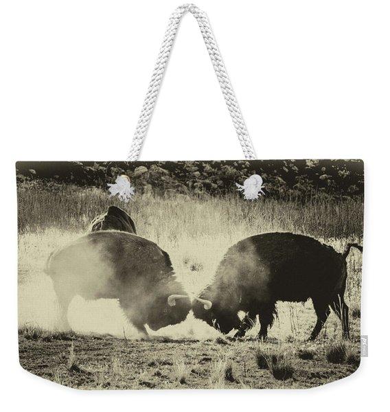 Sparring Partners - American Bison Weekender Tote Bag