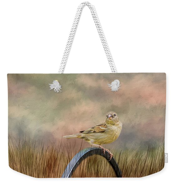 Sparrow In The Grass Weekender Tote Bag
