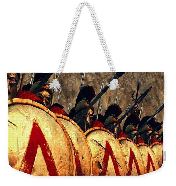 Spartan Army - Wall Of Spears Weekender Tote Bag