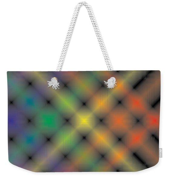 Spectral Shimmer Weave Weekender Tote Bag