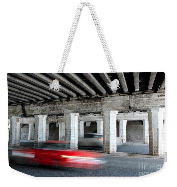 Speeding Car Weekender Tote Bag