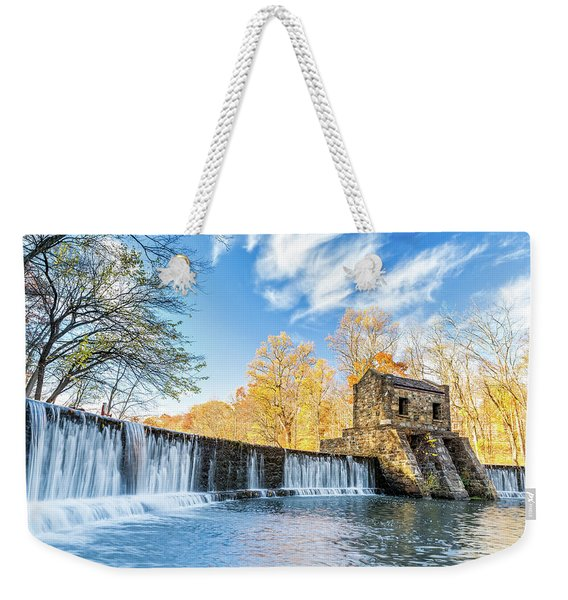Weekender Tote Bag featuring the photograph Speedwell Dam Waterfall by Mihai Andritoiu