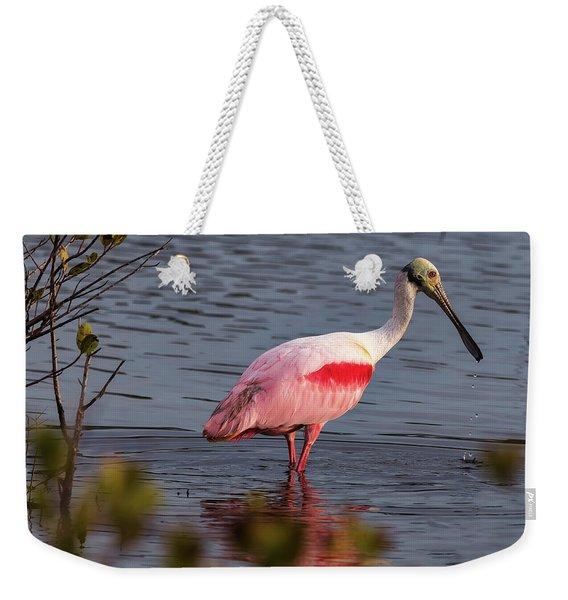 Spoonbill Fishing Weekender Tote Bag
