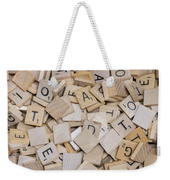 Spell It Out Weekender Tote Bag
