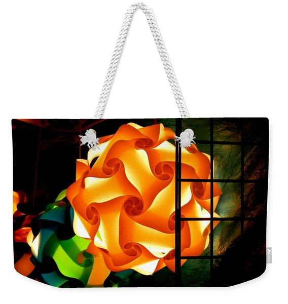 Spheres Of Light Electrified Weekender Tote Bag