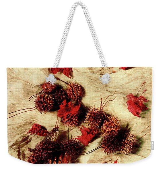 Spiked Nuts Red Weekender Tote Bag