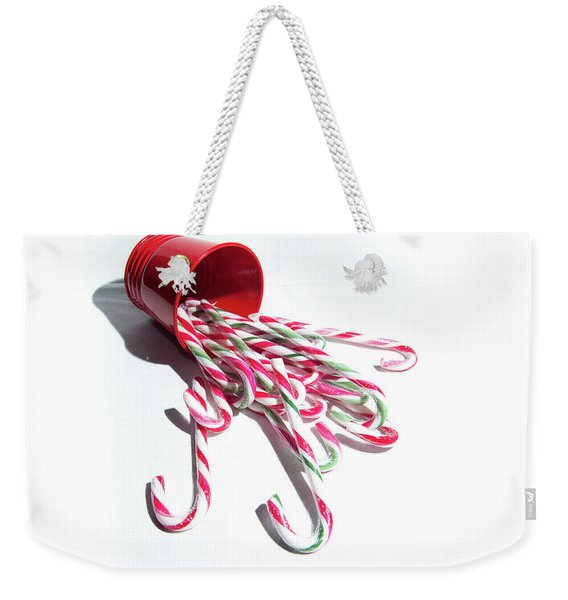 Spilled Candy Canes Weekender Tote Bag