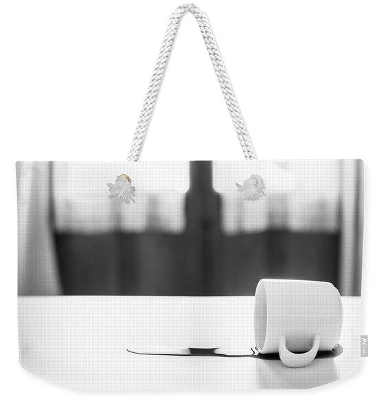 Spilt Coffee Weekender Tote Bag