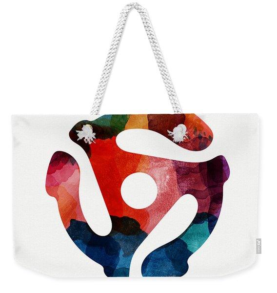 Spinning 45- Art By Linda Woods Weekender Tote Bag