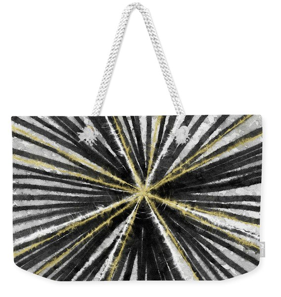 Spinning Black And Gold- Art By Linda Woods Weekender Tote Bag