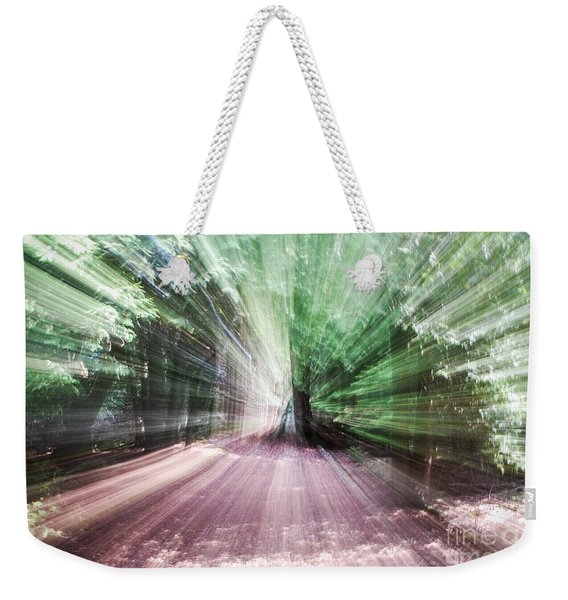 Spinning The Trail Weekender Tote Bag