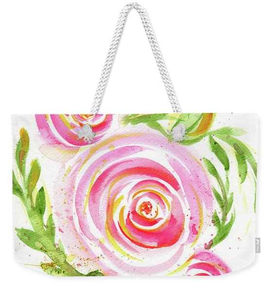 Spiral Pinks  Weekender Tote Bag