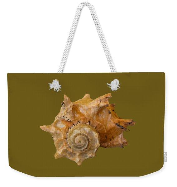Spiral Shell Transparency Weekender Tote Bag