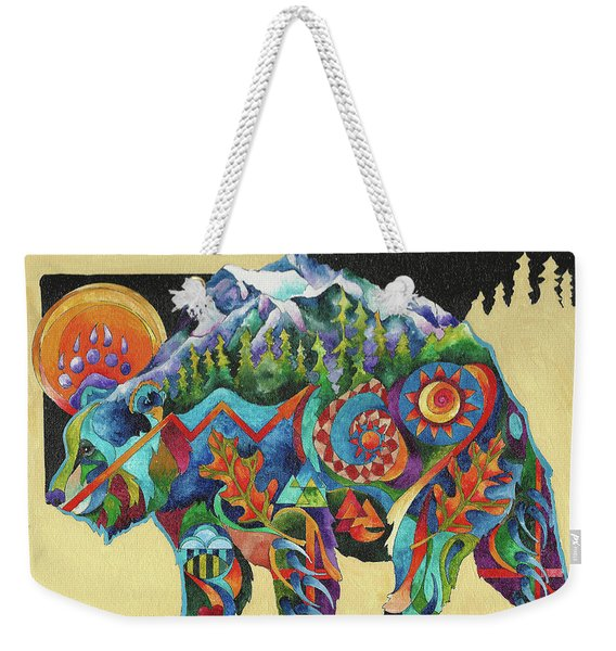 Spirit Bear Totem Weekender Tote Bag