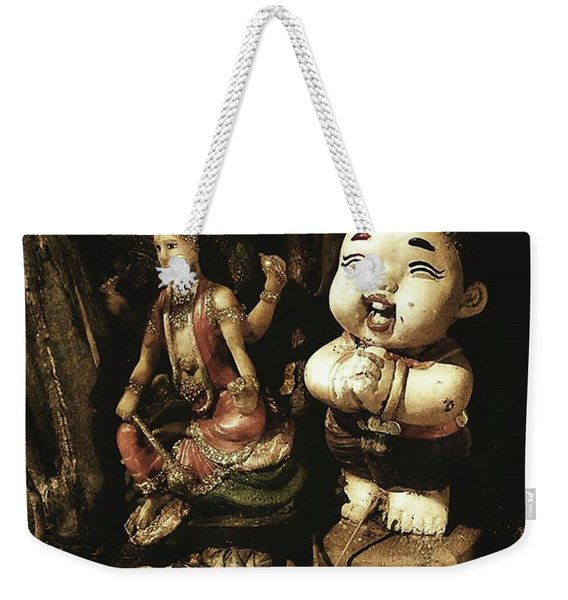 Weekender Tote Bag featuring the photograph Spirit Cemetery. When A Business Or by Mr Photojimsf