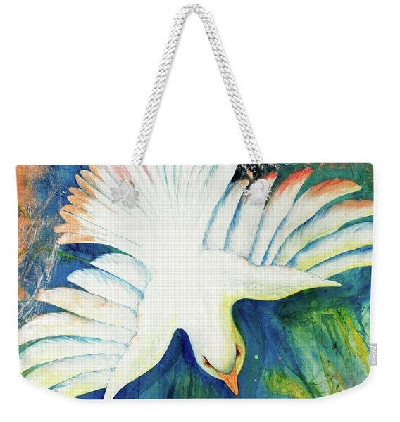 Weekender Tote Bag featuring the painting Spirit Fire by Nancy Cupp