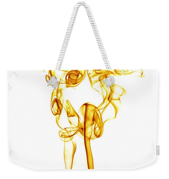 Weekender Tote Bag featuring the photograph Ghostly Smoke - Orange by Nick Bywater