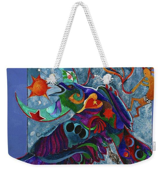 Spirit Raven Totem Weekender Tote Bag
