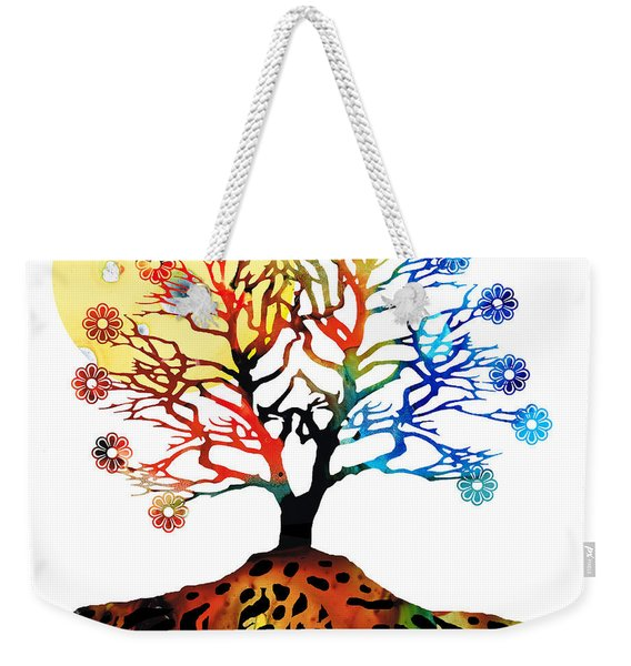 Spiritual Art - Tree Of Life Weekender Tote Bag