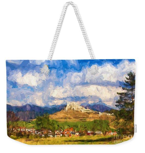 Castle Above The Village Weekender Tote Bag