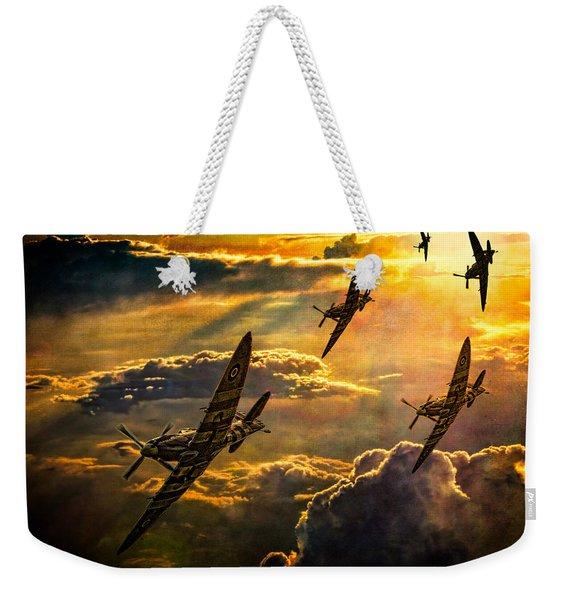 Spitfire Attack Weekender Tote Bag
