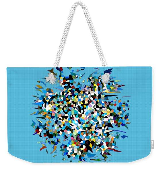 Weekender Tote Bag featuring the digital art Splash by Eleni Mac Synodinos