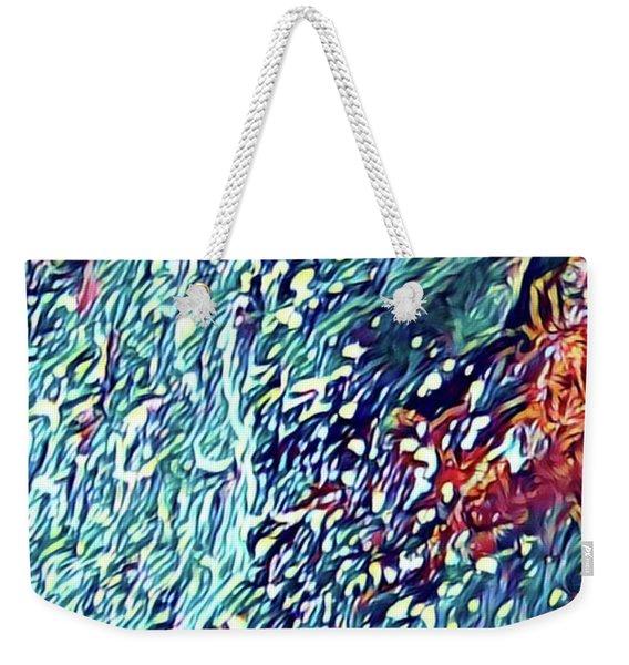 Splash Of Blue Ocean In Puna Weekender Tote Bag