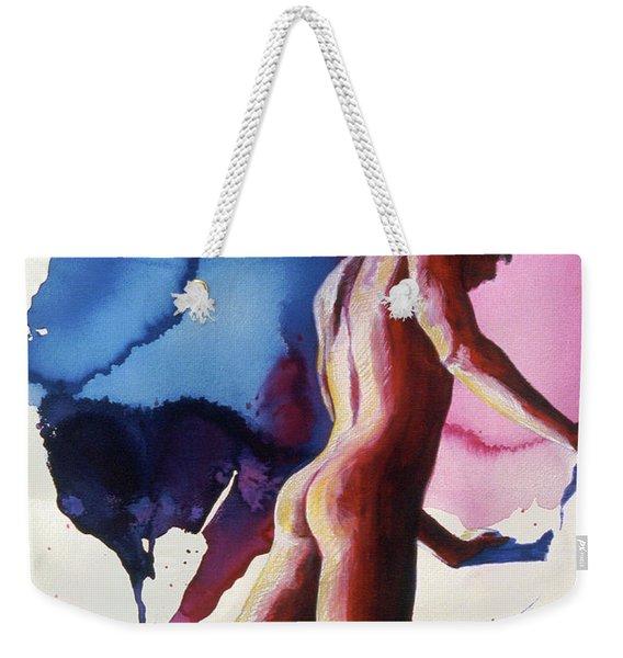 Splash Of Blue Weekender Tote Bag