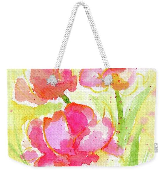 Splash Of Pinks  Weekender Tote Bag