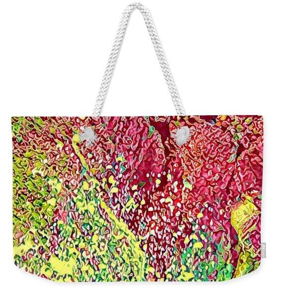 Splash Of Red - Heart Of Pele Weekender Tote Bag