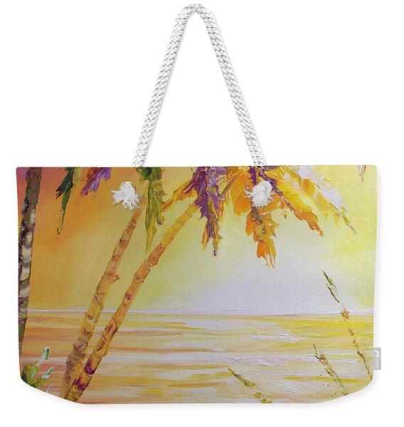 Splash Palm Weekender Tote Bag