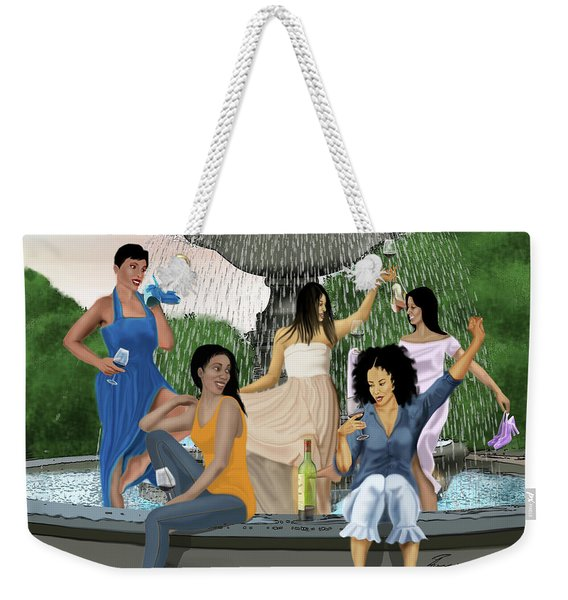 Splash Party Weekender Tote Bag