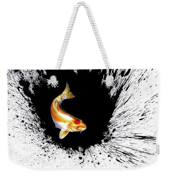 Weekender Tote Bag featuring the painting Splash by Sandi Baker