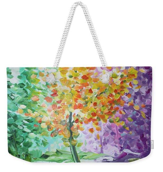 Splash Tree Weekender Tote Bag