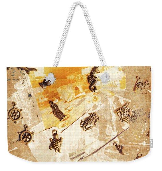 Splashback To The Old Ocean Weekender Tote Bag